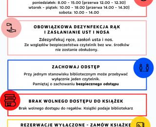 Zasady funkcjonowania biblioteki w strefie czerwonej