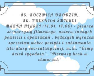 Rocznica urodzin Marka Hłaski